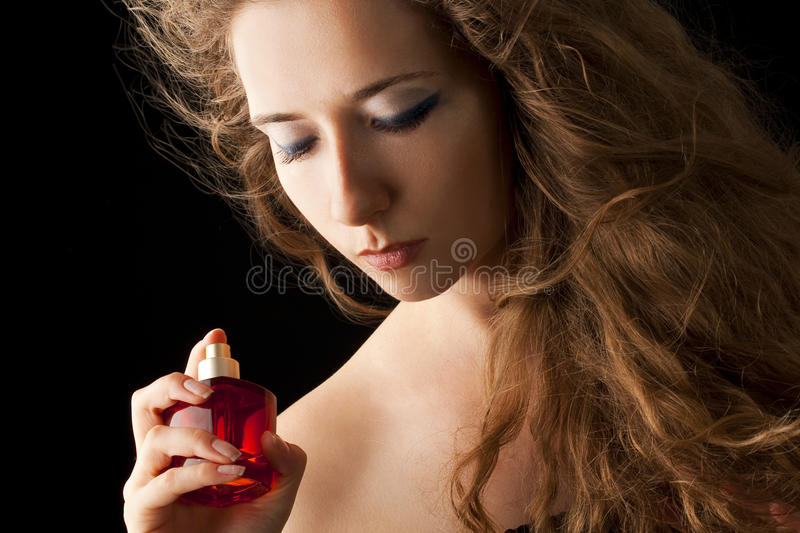 Sensual perfume royalty free stock photography