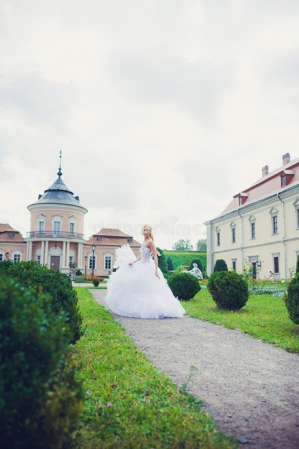 Sensual portrait of beautiful bride stock photo
