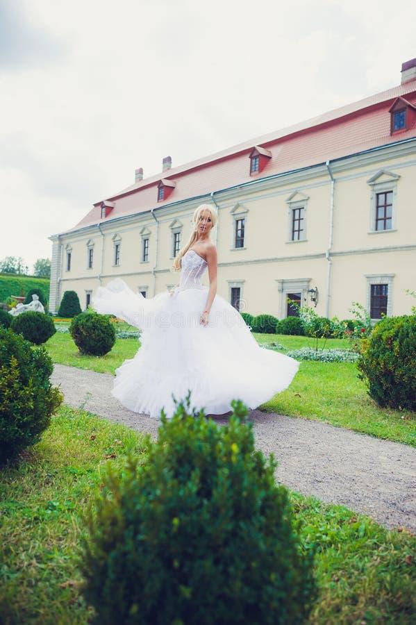 Sensual portrait of beautiful bride stock photography