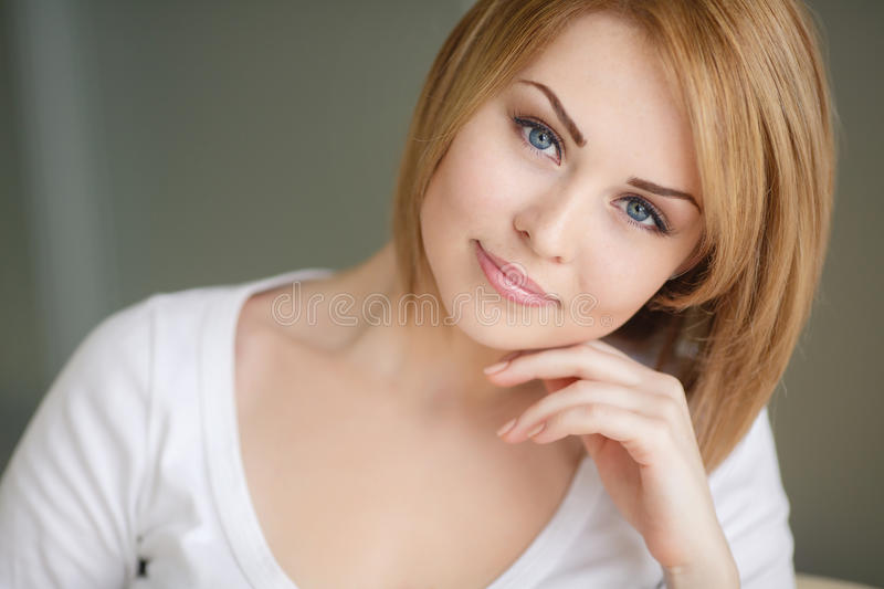 Sensual Portrait Of A Spring Woman Stock Photo