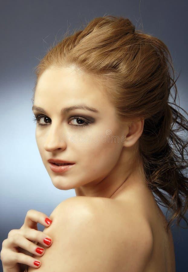 Free Sensual Red Hair Woman Studio Shot 6 Stock Image - 18132431