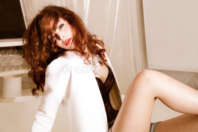 Sensual Redhead Stock Photo