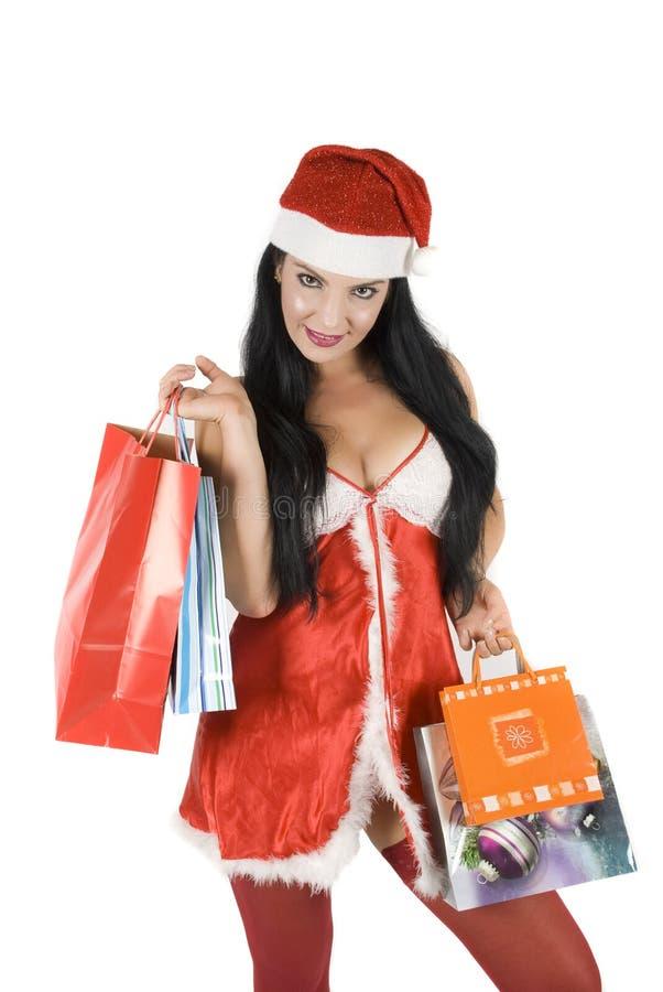 Sensual santa woman stock images