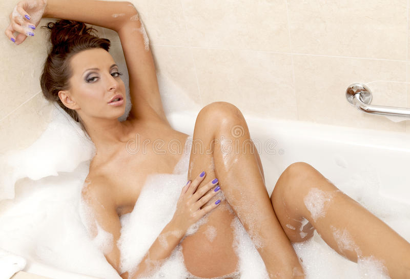 Sexy girl in the bath