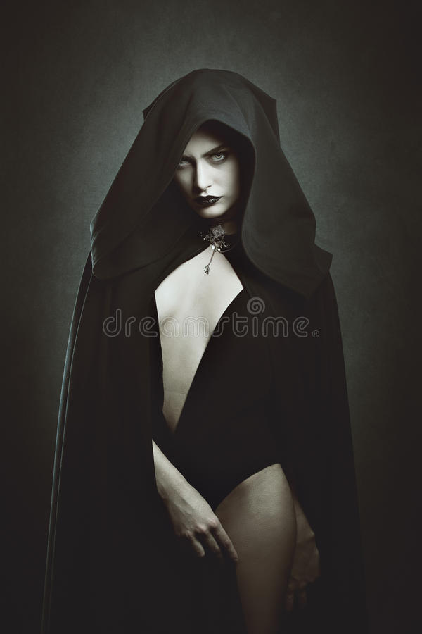 Sensual vampire queen. Halloween and gothic stock images