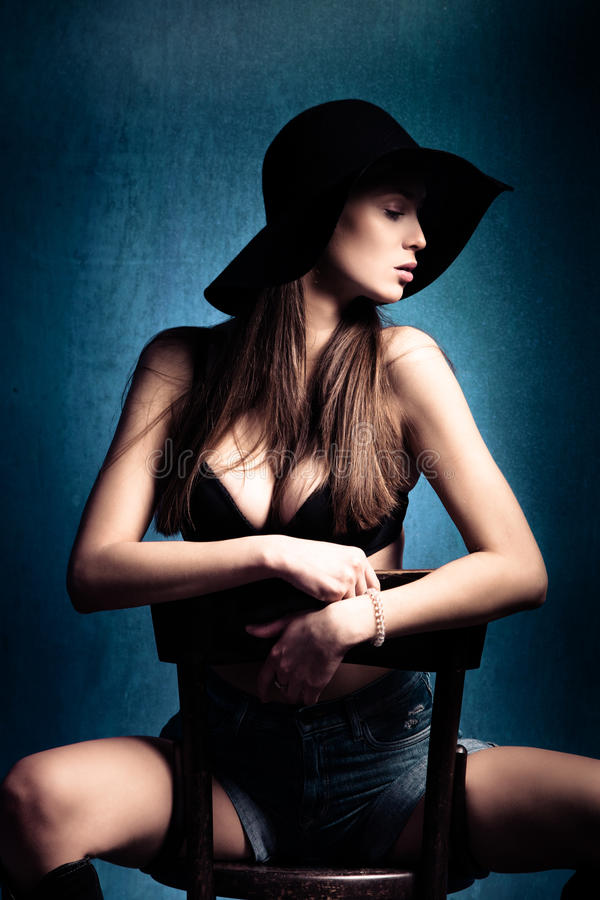 Download Sensual woman stock photo. Image of blue, lovely, style - 23128924