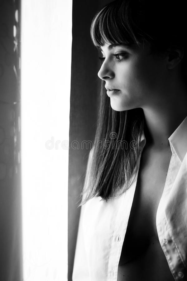 Sensual woman portrait royalty free stock images