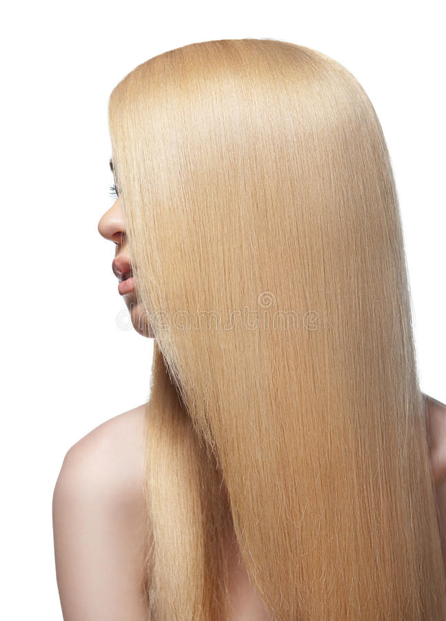 Download Sensual Woman With Shiny Straight Long Blond Hair Stock Image - Image: 24855959