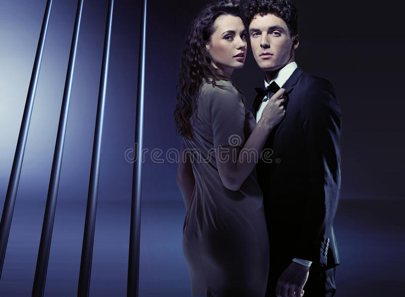 Download Sensual Woman Holding Her Boyfriend Very Close Stock Image - Image: 30135745