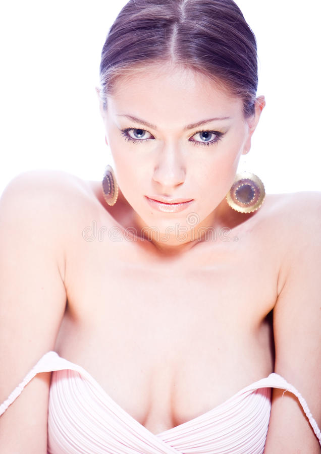 Download Sensual Young Woman With Ear-rings And Nacked Shou Stock Photo - Image: 10984848
