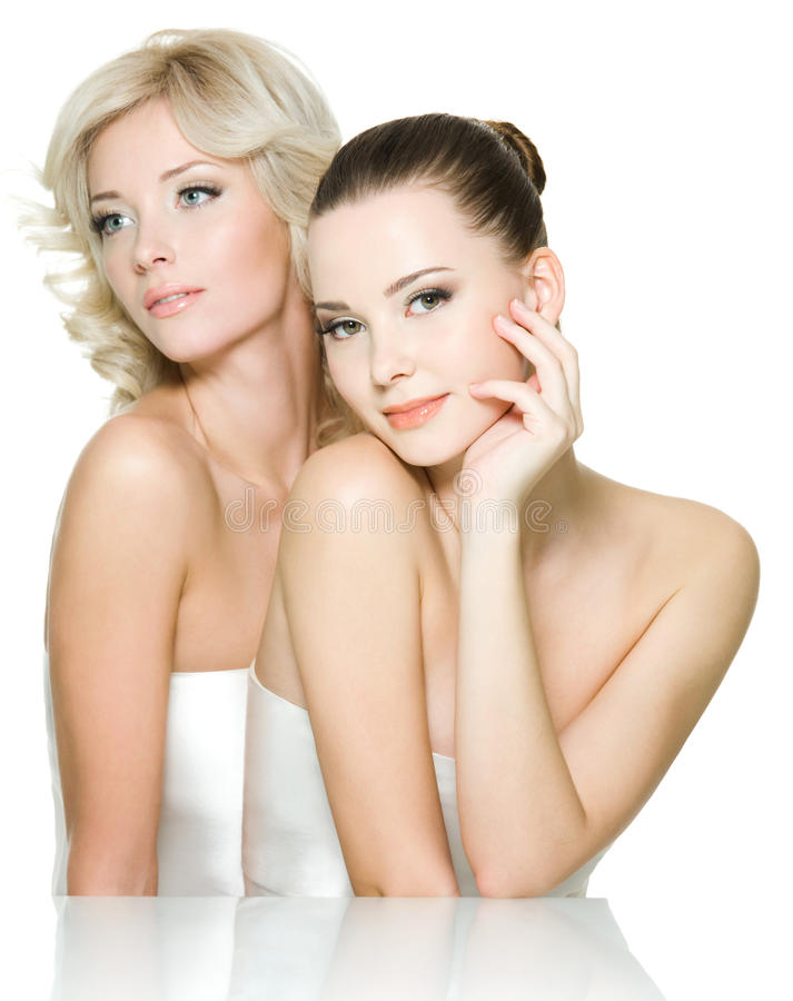 Free Sensuality Faces Of Two Beautiful Young Women Royalty Free Stock Photos - 17018258