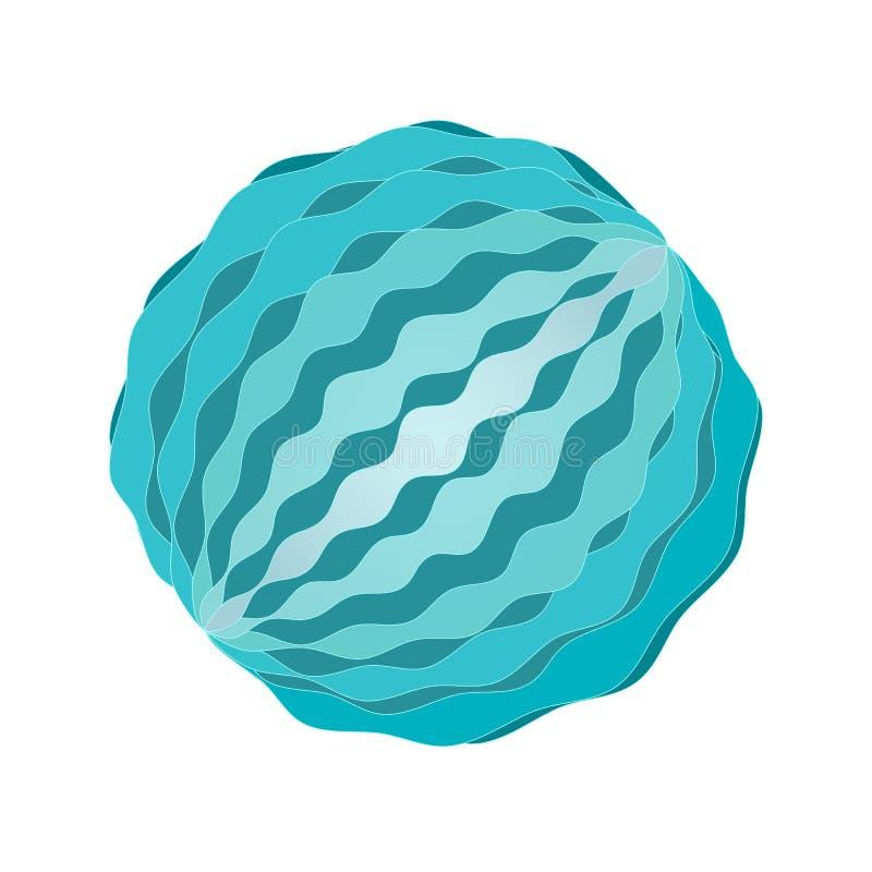 Sensualnego masażu balowa wektorowa ilustracja Błękitny kolor, odosobniony na bielu royalty ilustracja