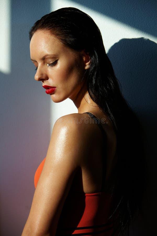 Sensueel brunette stock fotografie
