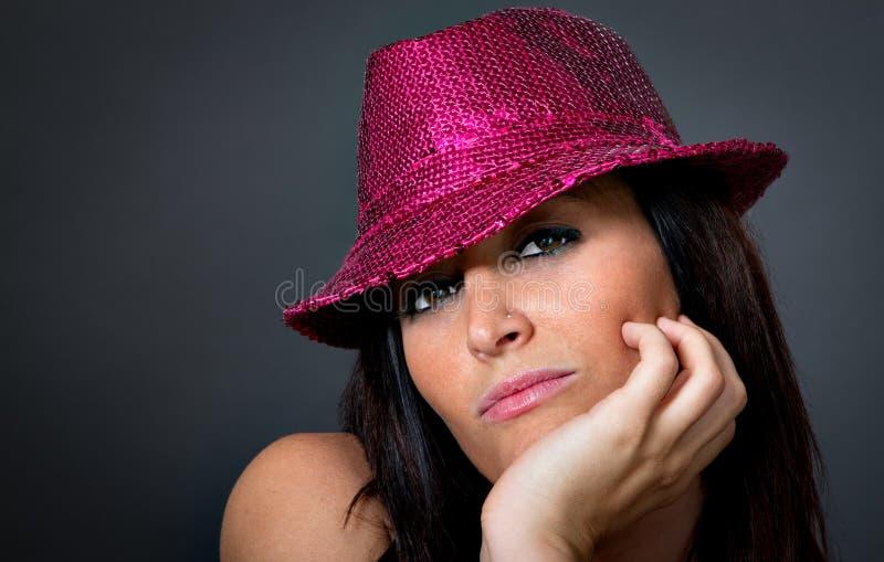 Sensueel portret van een Italiaanse vrouw stock foto's