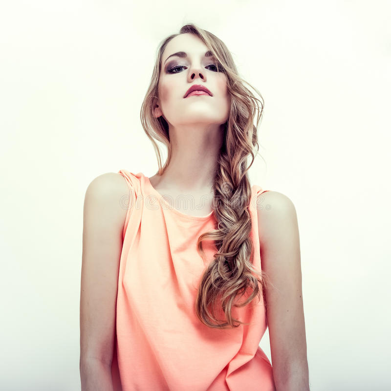 sensueel vrouwenmodel stock fotografie