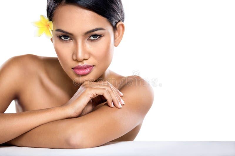 Sensuele Aziatische vrouw royalty-vrije stock foto's