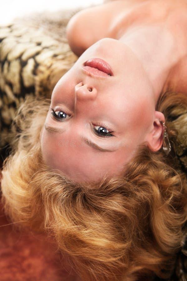 Sensuele blonde vrouw royalty-vrije stock afbeeldingen