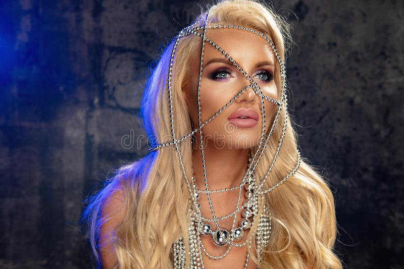 Sensuele blondevrouw royalty-vrije stock fotografie