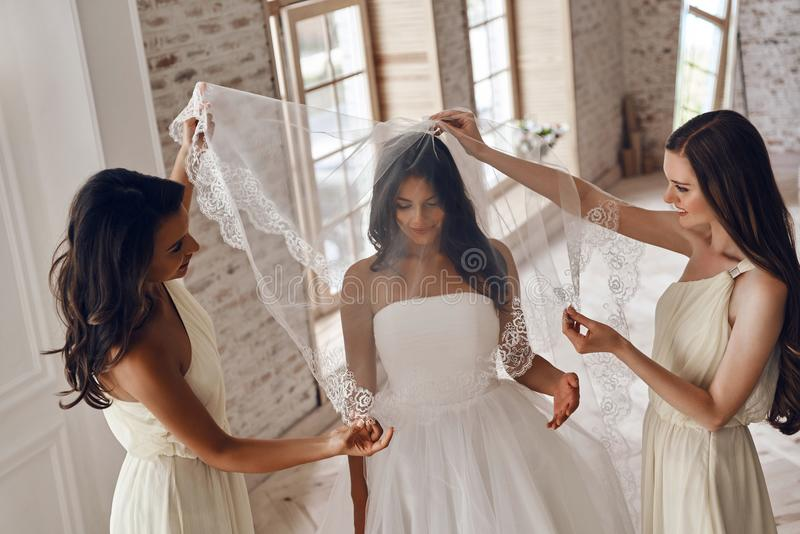 Sensuele bruid royalty-vrije stock foto's