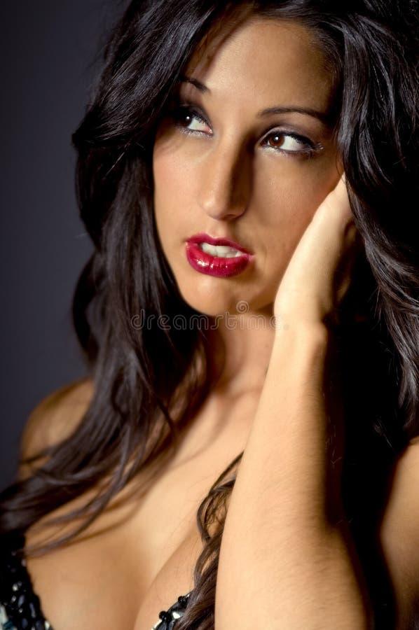 Sensuele Donkerbruine Vrouw stock foto