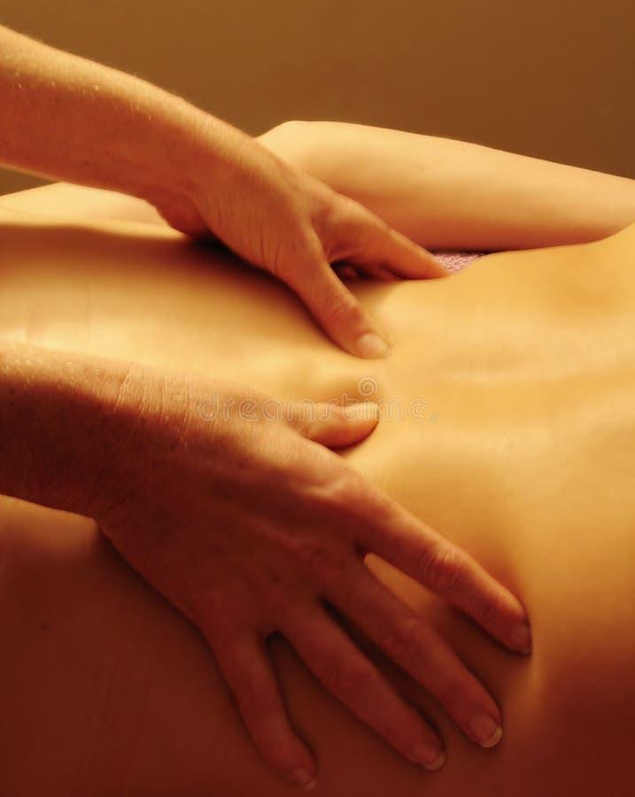 Sensuele Massage#1 royalty-vrije stock afbeelding
