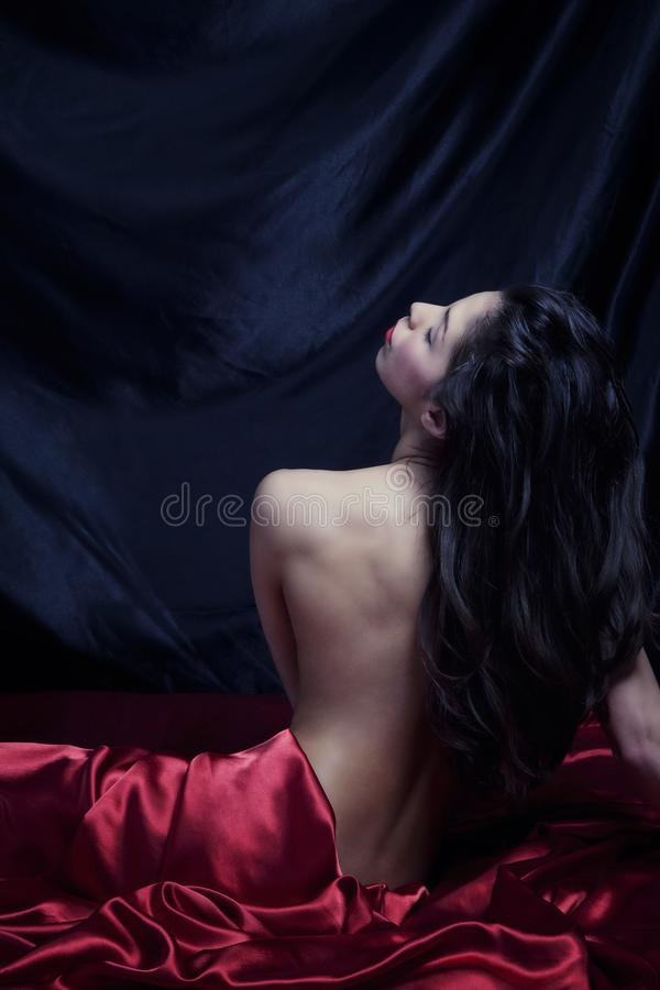 Download Sensuous woman stock photo. Image of sheets, luxurious - 23330674