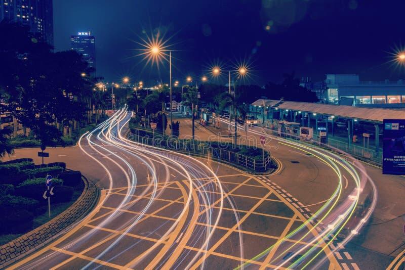 sent - central bussplattform för natt 2019 arkivbilder