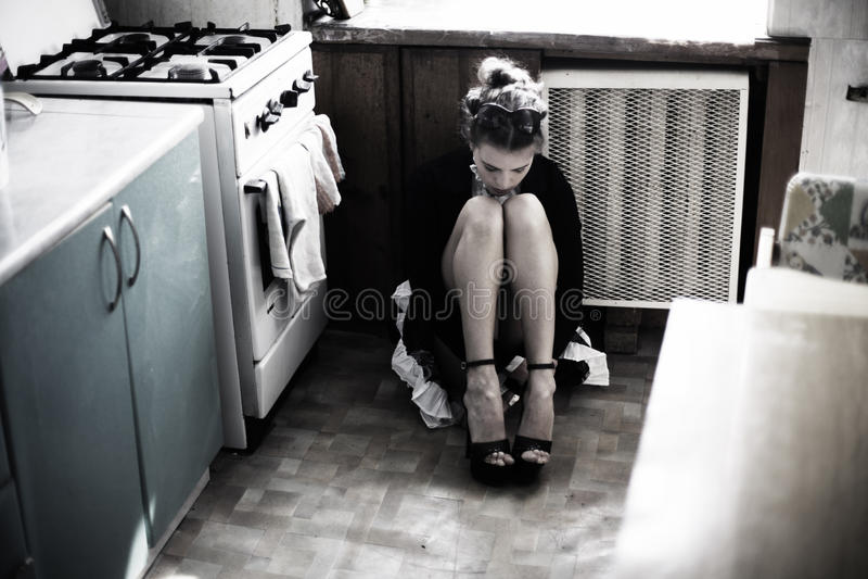 Sentada de la muchacha imágenes de archivo libres de regalías