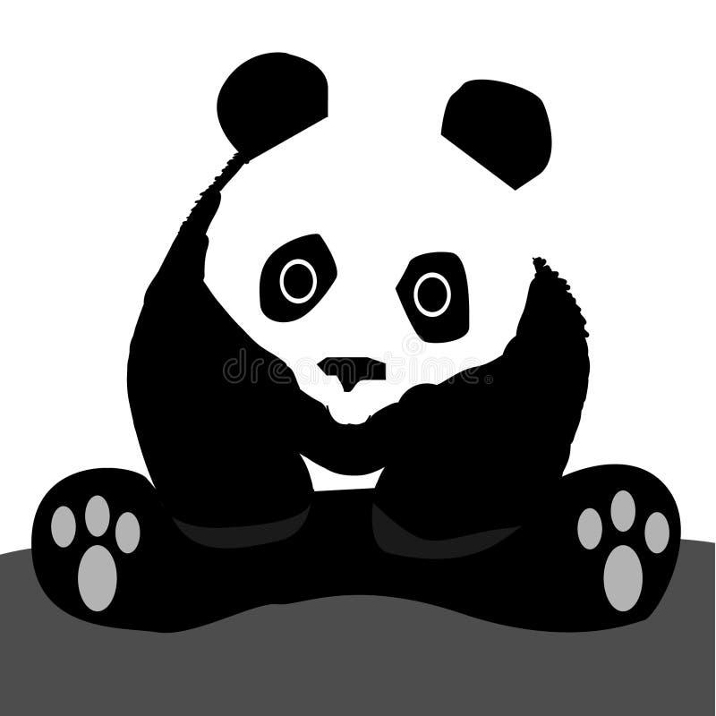Sentada de la panda del dibujo libre illustration