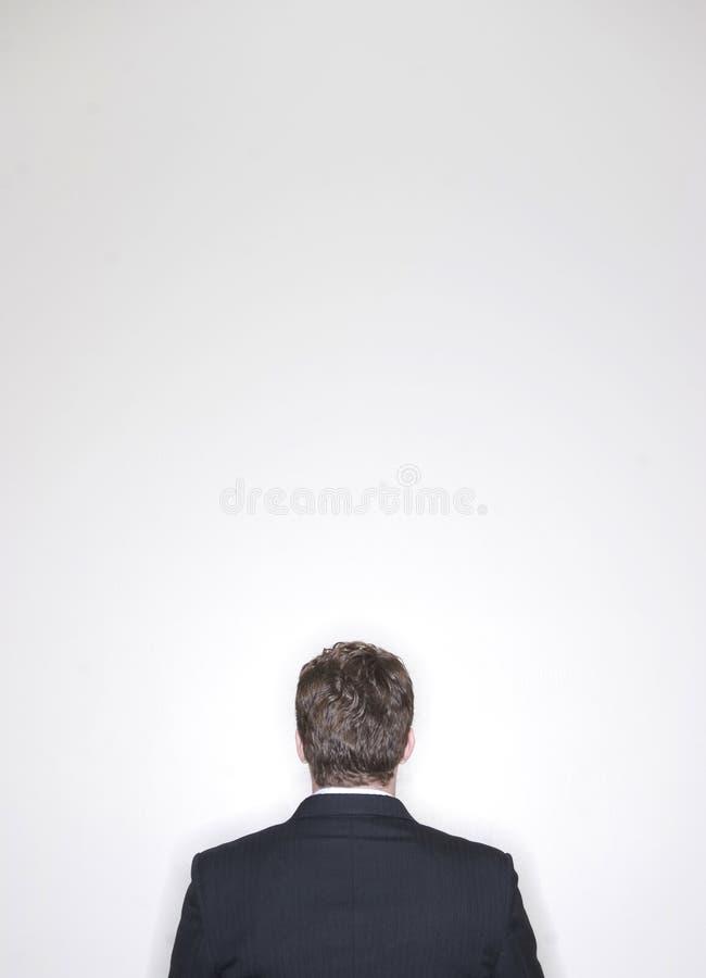 Sentada del hombre de negocios foto de archivo libre de regalías