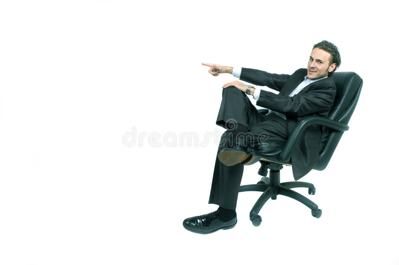 Sentada del hombre de negocios fotografía de archivo libre de regalías