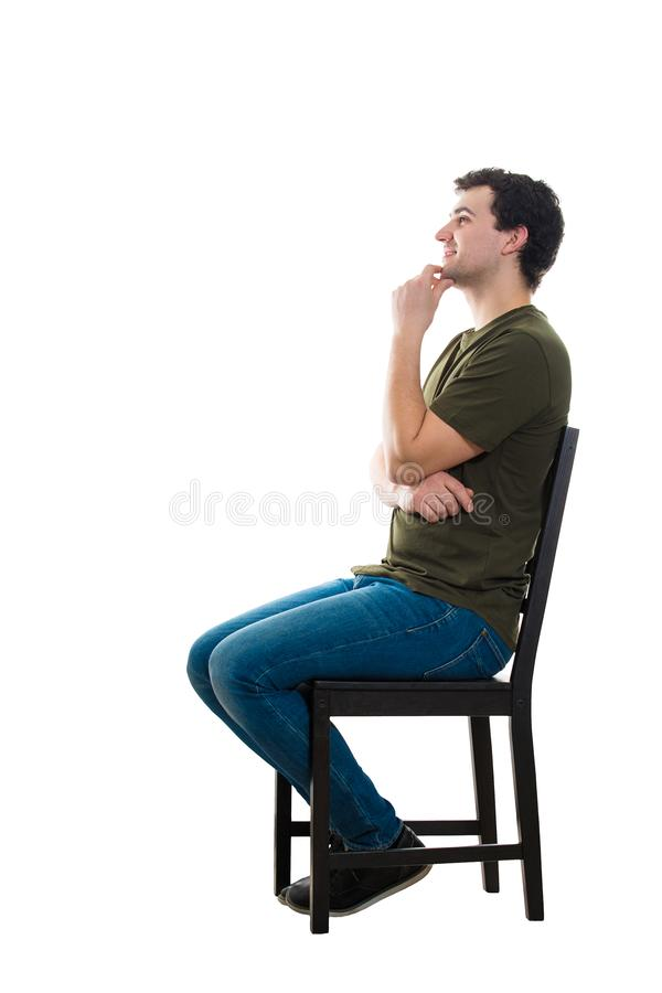 Sentada del hombre imagen de archivo