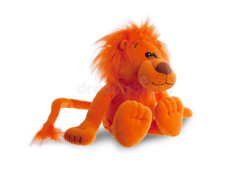 Sentada del león del peluche imagen de archivo