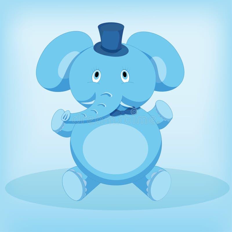 Sentada linda de la historieta del elefante foto de archivo