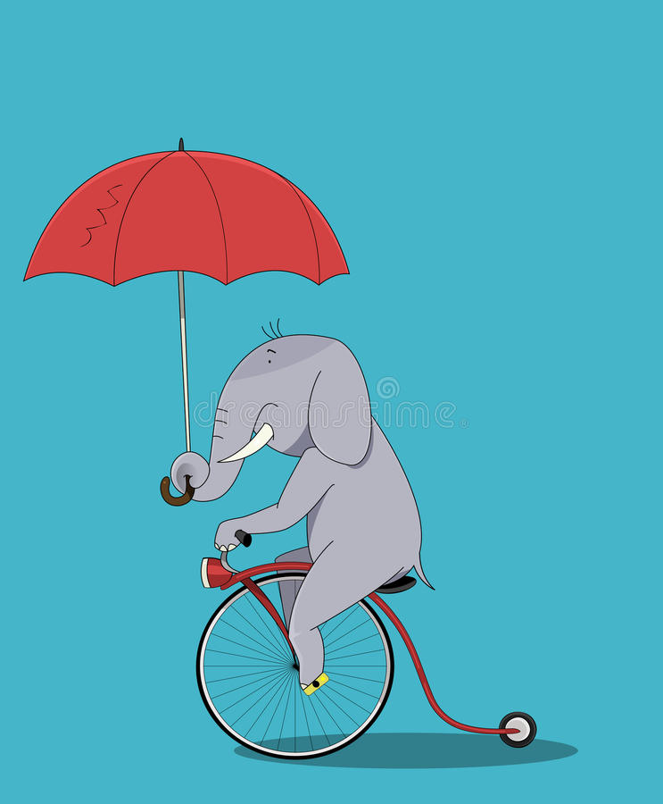 Sentada linda de la historieta del elefante libre illustration