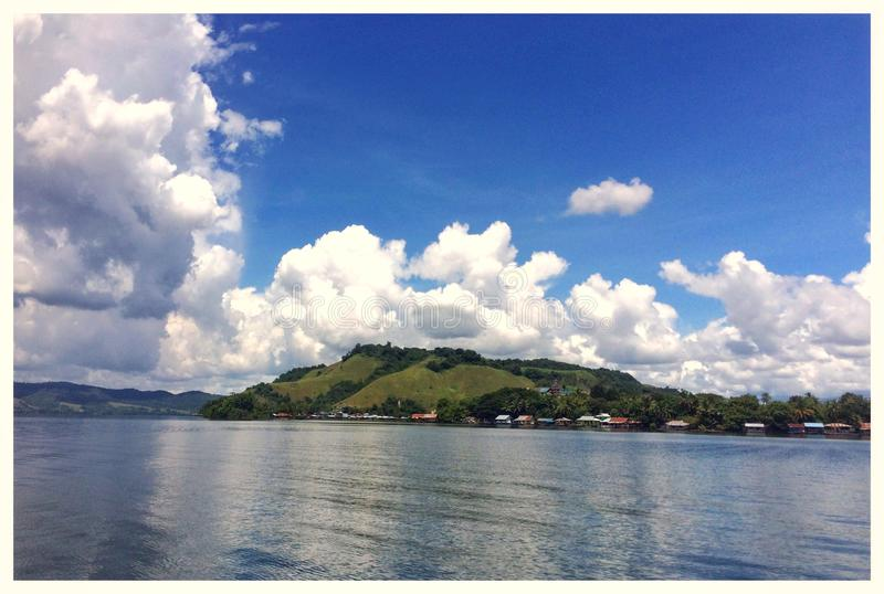 Sentani Lake at Papua. Sentani lake in papua, indonesia royalty free stock photography