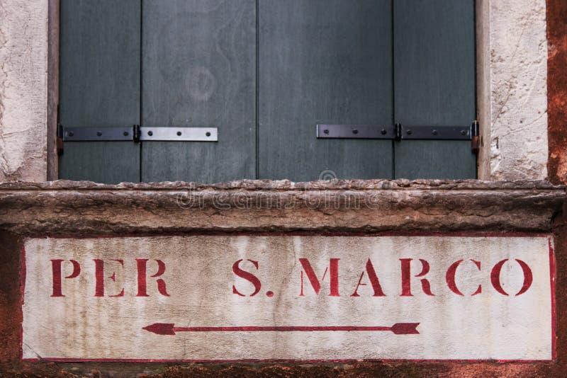 Sentido à praça San Marco fotos de stock royalty free