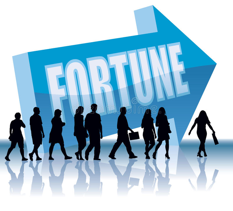 Sentido - fortuna ilustração royalty free