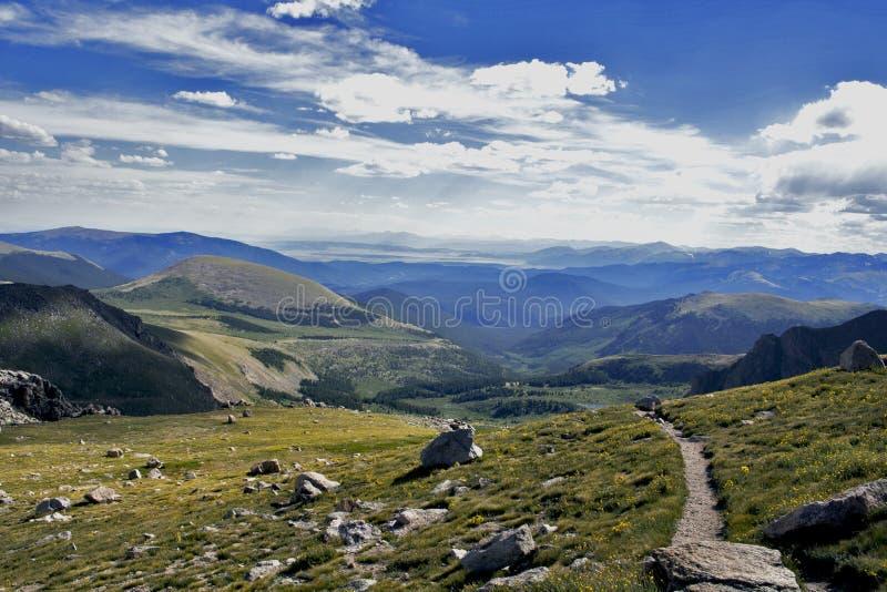 Sentier de randonnée sur le Mt evans photo libre de droits