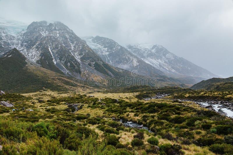 Sentier de randonnée de voie de vallée, Nouvelle-Zélande image libre de droits