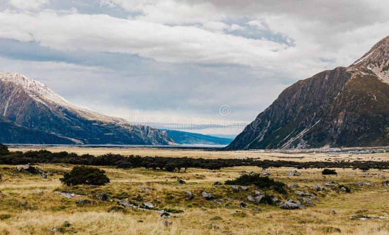 Sentier de randonnée de voie de vallée, Nouvelle-Zélande images stock