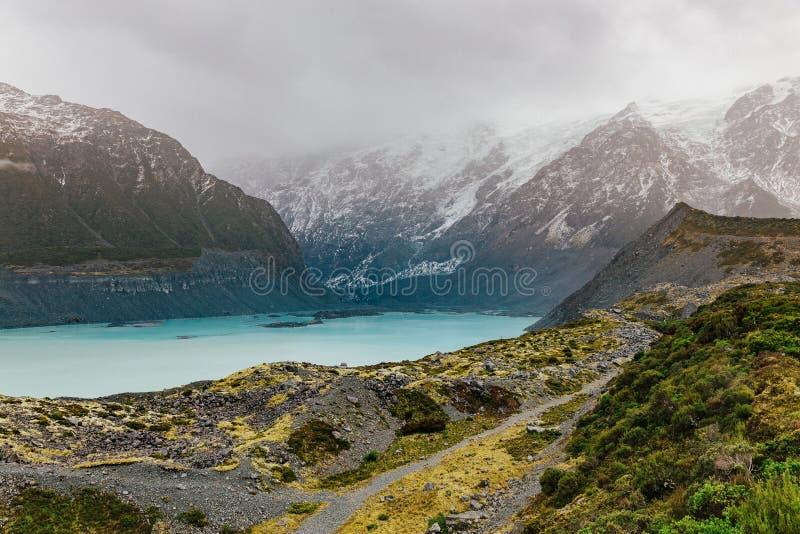 Sentier de randonnée de voie de vallée, Nouvelle-Zélande photo libre de droits