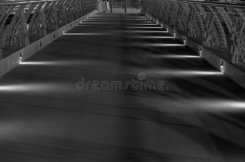 Sentiero costiero con le luci in bianco e nero immagini stock libere da diritti
