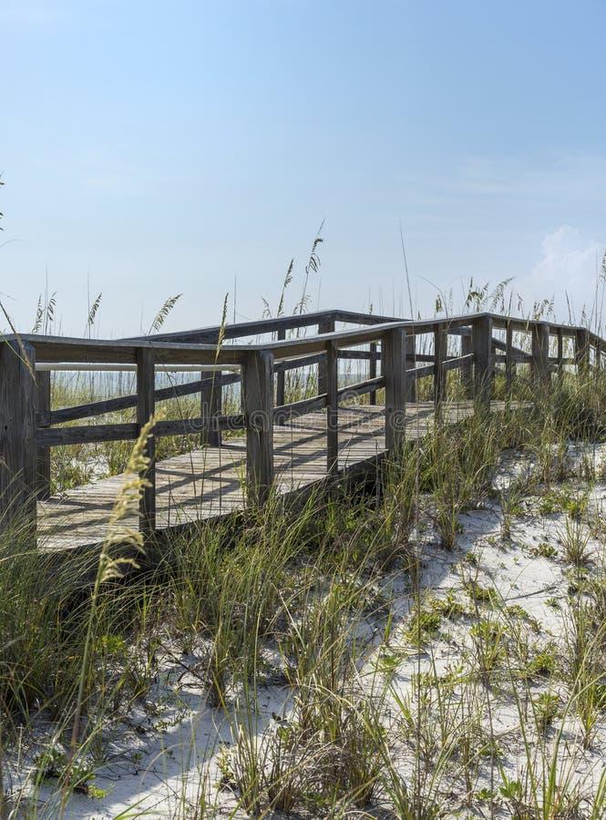 Sentiero costiero d'annata rustico della spiaggia in Florida immagini stock libere da diritti