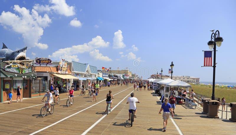 Sentiero costiero della città dell'oceano, New Jersey, U.S.A. fotografia stock