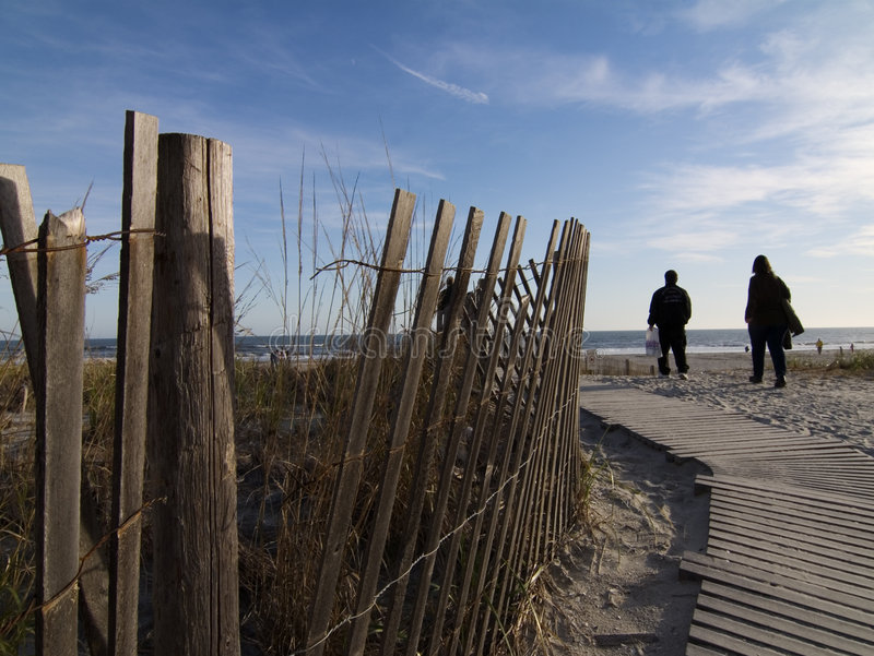 Sentiero costiero di Atlantic City fotografia stock libera da diritti