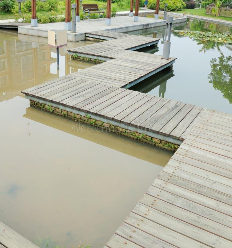 Sentiero costiero di legno della plancia fotografia stock libera da diritti