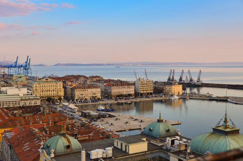 Sentiero costiero di Rijeka fotografia stock