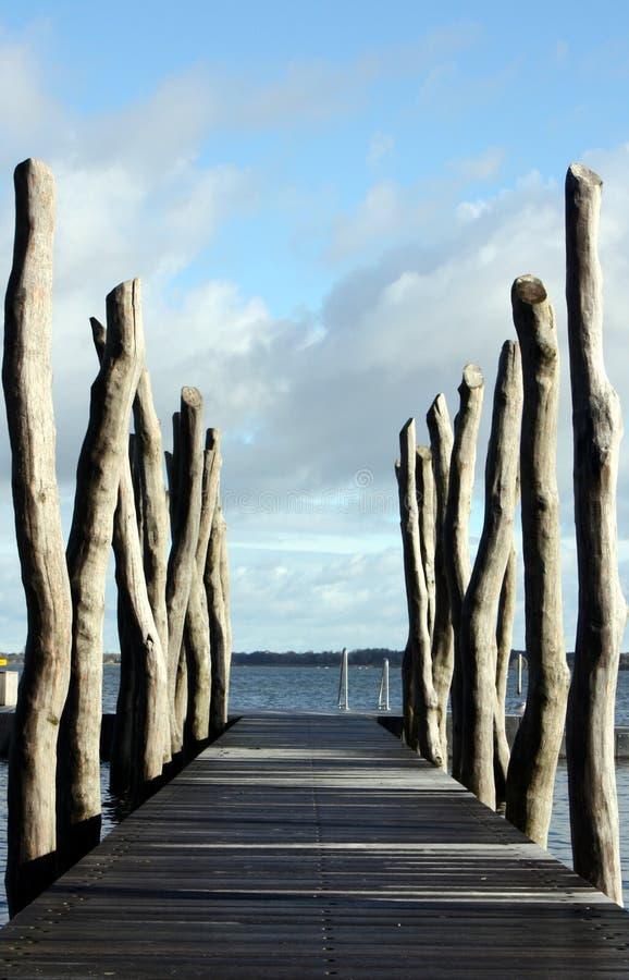 Sentiero costiero nel lago fotografia stock