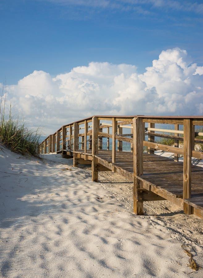 Sentiero costiero nelle dune di sabbia della spiaggia immagini stock